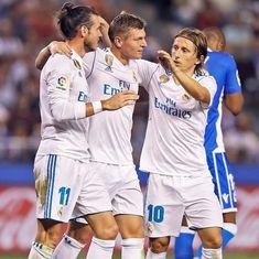 Rampant Real Madrid brush aside Deportivo, Barcelona off to winning start on emotional occasion