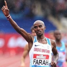 Leaving on a high: Mo Farah emerges victorious in his final race on home soil