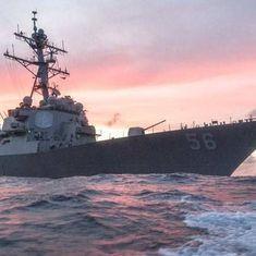 अमेरिकी नौसेना का जंगी जहाज सिंगापुर के नज़दीक तेल टैंकर से टकराया, 5 नाविक ज़ख्मी, 10 लापता