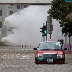 चीन : भीषण तूफान हातो से भारी नुकसान, 16 की मौत