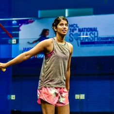 Joshna Chinappa upsets sixth seed Perry to reach Black Ball Squash Open quarters