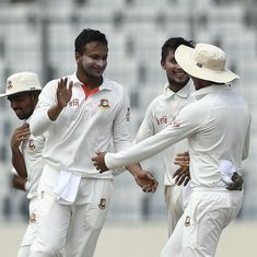 Shakib Al Hasan's five-for puts Bangladesh in driving seat on Day 2 of first Test against Australia