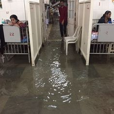 Watch: Flood waters enter Mumbai's crowded KEM hospital and displace ground floor patients