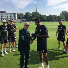 Ravichandran Ashwin begins English county stint with three wickets