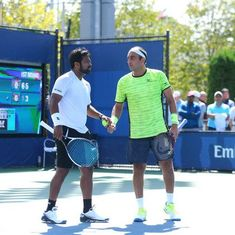 Paes and Raja go down fighting in St Petersburg, Mukund and Kadhe set up final in Coimbatore