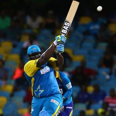 Six and Out: Rahkeem Cornwall retires hurt after scoring 78 in the Caribbean Premier League