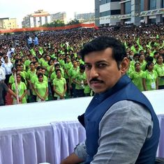 Olympic silver medallist Rajyavardhan Rathore replaces Vijay Goel as India's sports minister