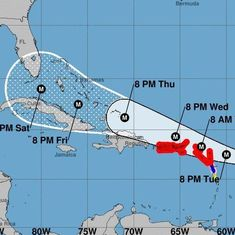 Hurricane Irma strengthens to a Category 5 storm, may hit Caribbean islands by tonight
