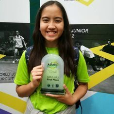 Even for local fans, Malaysia's Aira Azman was the star of the Indian Junior Open squash tournament