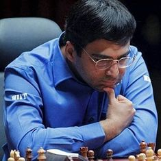Viswanathan Anand wins with black to move to joint third spot in Isle of Man Chess tournament
