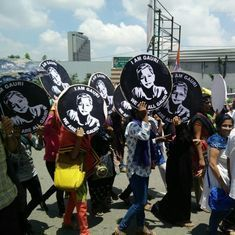 In photos: #IAmGauri national rally in Bengaluru clamours for justice in journalist's murder case