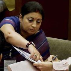 Last among equals: Why Smriti Irani is not on any of the powerful Cabinet committees
