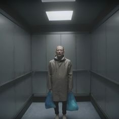 Watch: Thom Yorke is literally stuck in a lift in Radiohead's surreal new video for 'Lift'