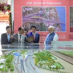 देश की पहली बुलेट ट्रेन परियोजना पर काम शुरू हुआ
