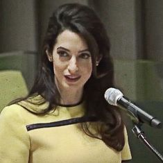 Watch: Amal Clooney's speech at the UN where she takes on Islamic State group