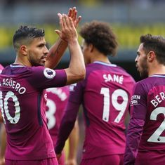 Aguero's hat-trick masterminds Manchester City's 6-0 rout of Watford, Liverpool held to draw