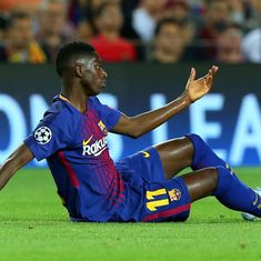 Barcelona's record signing Ousmane Dembele ruled out for 3-4 months