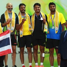Sanave-Rupesh beat Diju-Vidyadhar to win gold at BWF World Senior Badminton Championships