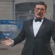 Watch: Stephen Colbert's savage opening at the 69th Emmy Awards was everything he promised, and more