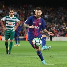 'Messi is bigger than Real Madrid': Twitter hails the Barcelona genius after his four-goal fest