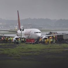 SpiceJet flight with 183 on board skids off Mumbai airport runway after heavy rain