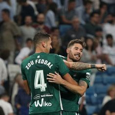 Real Betis stun Real Madrid 1-0 on Cristiano Ronaldo's return from five-match ban