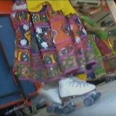 Watch: Youngsters in Gujarat put a spin on the dandiya as they perform on roller skates