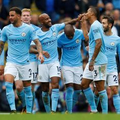 Manchester City thump lowly Crystal Palace 5-0, in-form Lukaku helps United edge out Southampton