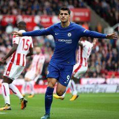 Alvaro Morata slams hat-trick as Chelsea rout Stoke 4-0, Kane's brace propels Spurs to victory