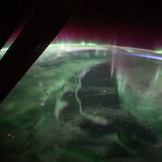 Watch: NASA's International Space Station captured a spectacular aurora over Canada