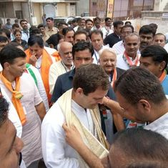 Rahul Gandhi kicks off Congress' election campaign in Gujarat on a bullock cart