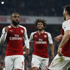 Lacazette brace gives Arsenal 2-0 win over West Brom in Barry's record match
