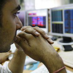 Sensex ends over 150 points down, Nifty manages to stay above 10,300