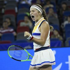 Ostapenko topples Muguruza, Barty knocks out Pliskova at shock-prone Wuhan Open