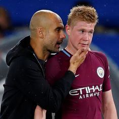 We are stronger with him: Guardiola hoping to keep De Bruyne fit after injury woes last season
