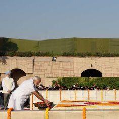 In photos: Modi, Ram Nath Kovind pay tributes to Mahatma Gandhi at Rajghat