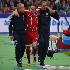 Bayern Munich star Franck Ribery out indefinitely with torn knee ligament