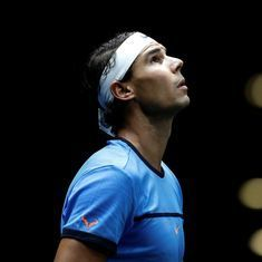 Rafael Nadal saves two match points to survive first round of China Open