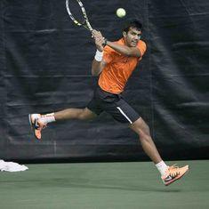 Arjun Kadhe advances to second round of National Tennis Championship