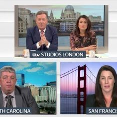 Watch: British news anchor furiously lashes out as pro-gun campaigner defends gun rights and laughs