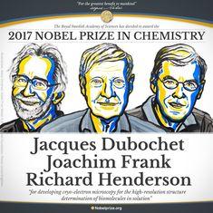 क्रायो-इलेक्ट्रॉन माइक्रोस्कोपी का अविष्कार करने वाले वैज्ञानिकों को रसायन का नोबेल