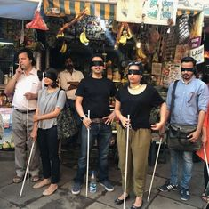 I walked through a Delhi market with a blindfold. Here's what I can see clearly now