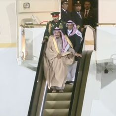 Watch: Saudi King Salman's grand entrance in Moscow was ruined by his gold escalator