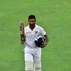 Karunaratne misses double ton but lifts Sri Lanka to strong position against Pakistan