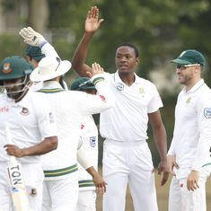 South Africa romp to their biggest win in Test cricket after Rabada five-for flattens Bangladesh