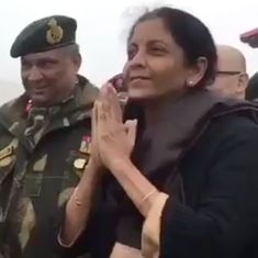'Namaste.' 'Ni Hao.' Nirmala Sitharaman and Chinese soldiers give greetings lessons to one another