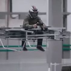Watch: The Russian company that makes AK-47s introduces a 'hover bike' for military use