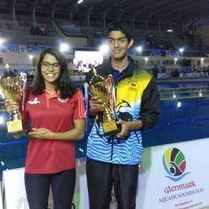 Srihari Nataraj and Shivani Kataria named 'Best Swimmers' at National Championships