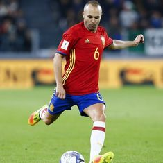 'I am realistic': Iniesta hints at international retirement after 2018 World Cup