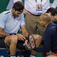 Juan Martin del Potro could miss Shanghai Masters semi-final with wrist injury